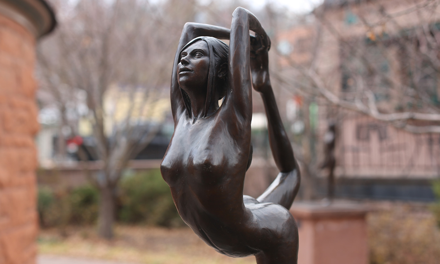 """Dancer"" sculpture in Manitou Springs, CO 